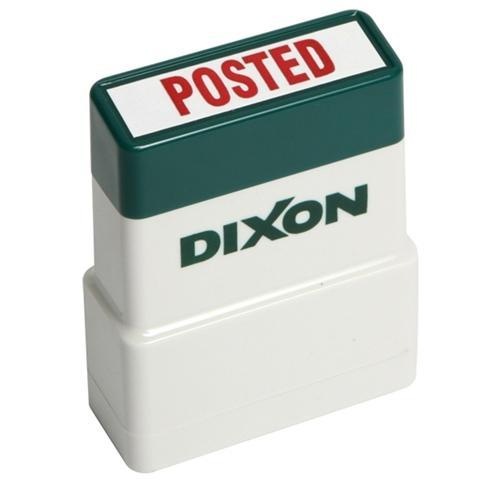 Croxley Dixon Rubber Stamp POSTED Red