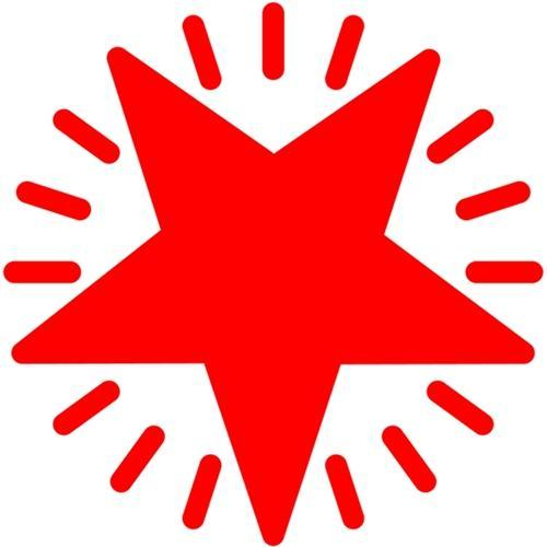 Croxley Dixon Rubber Stamp Red STAR