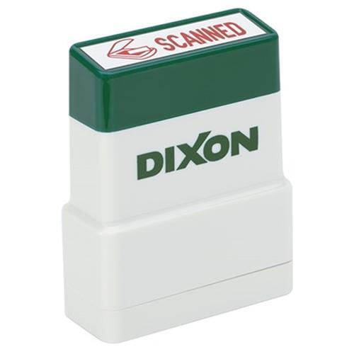 Croxley Dixon Rubber Stamp SCANNED Red