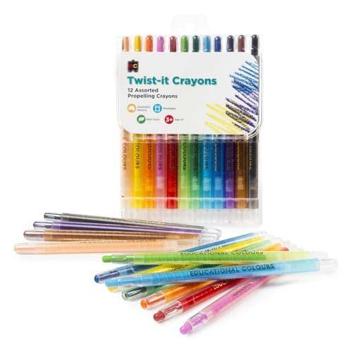 Croxley EC Twist It Crayons 12's