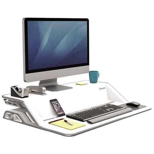 Croxley Fellowes Lotus™ Sit-Stand Workstation - White