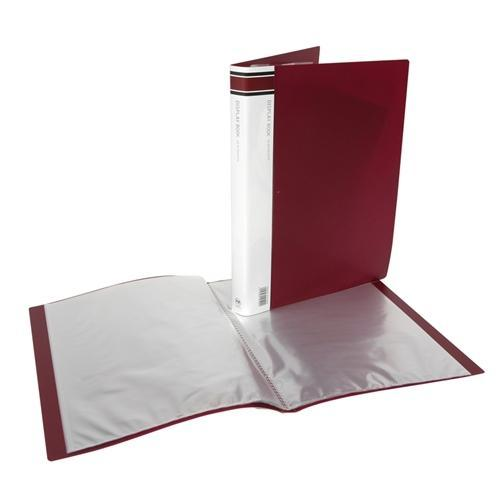 Croxley FM A4 Display Book 40 pocket Burgundy