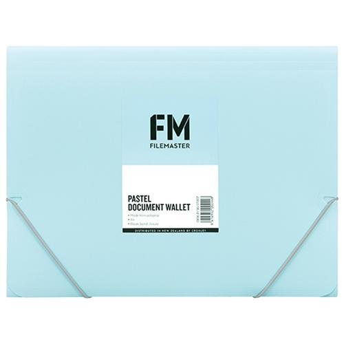 Croxley FM A4 Document Wallet Pastel Baby Blue