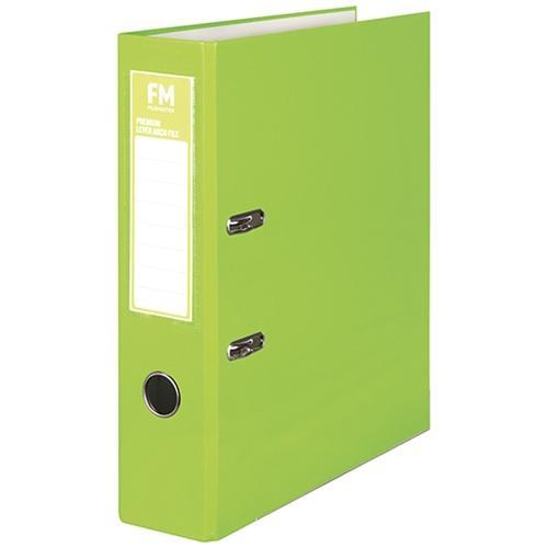 Croxley FM A4 Lever Arch File Premium Range Lime Green