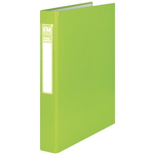 Croxley FM A4 Ring Binder 2/26 Premium Range Lime Green