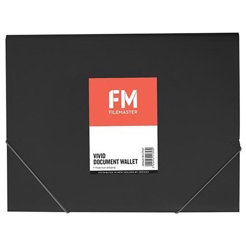 Croxley FM A4 Vivid Document Wallet Black