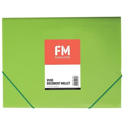 FM A4 Vivid Document Wallet Lime Green U2014 Discount Office | NZ Office  Supplies At Everyday Low Prices