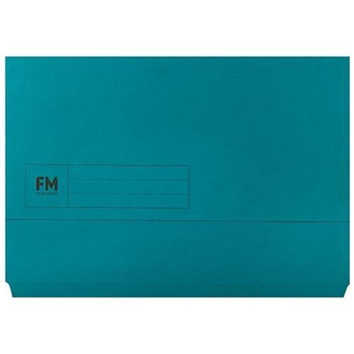 Croxley FM Foolscap Document Wallet Blue x 50