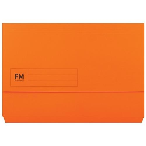 Croxley FM Foolscap Document Wallet Orange x 50