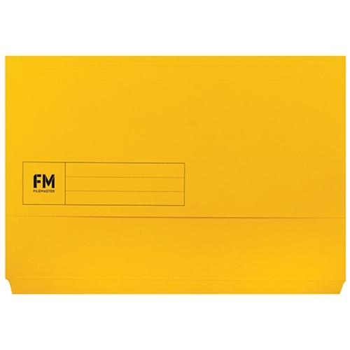 Croxley FM Foolscap Document Wallet Yellow x 50