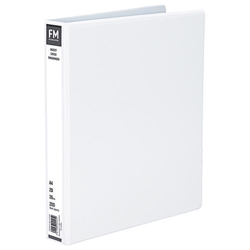 Croxley FM Overlay Insert Cover A4 Ring Binder 2/26 - White