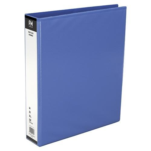 Croxley FM Overlay Insert Cover A4 Ring Binder 2/38 - Light Blue