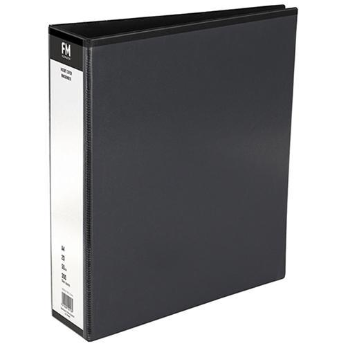 Croxley FM Overlay Insert Cover A4 Ring Binder 2/50 - Black