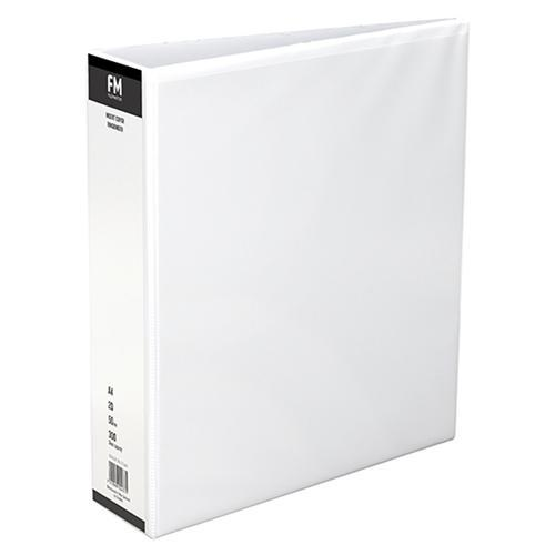 Croxley FM Overlay Insert Cover A4 Ring Binder 2/50 - White