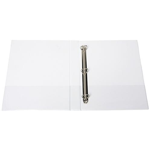 Croxley FM Overlay Insert Cover A4 Ring Binder 3/26 - White