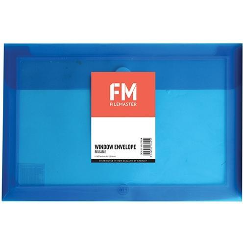 Croxley FM Reusable Polyprop Wallet Blue