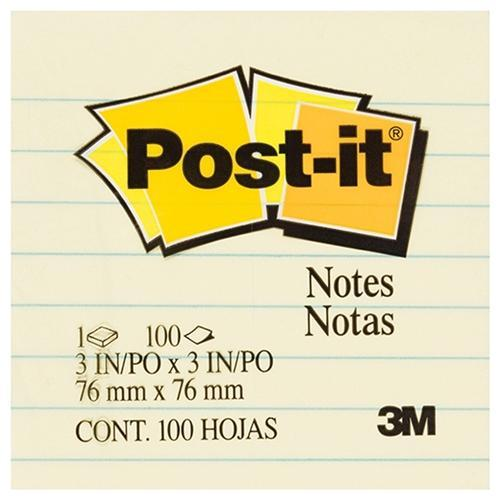 Croxley/FreshPrint 3M Sticky Post It Note 76 x 76mm - Lined