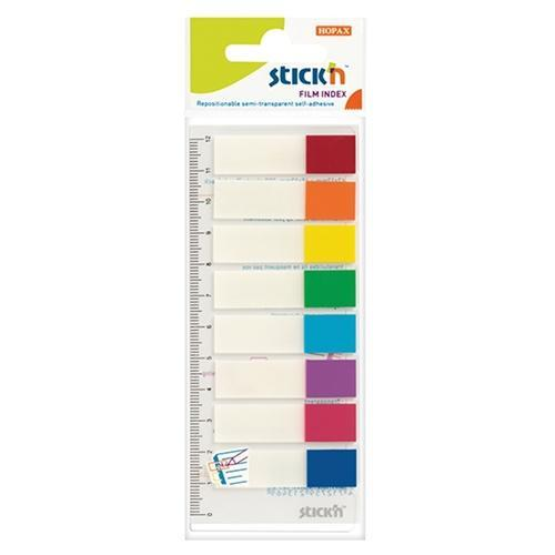 Croxley Hopax Sticky Neon Tips Flags 45 x 12mm - 8 Colours
