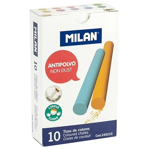 Croxley Milan Dustless Coloured Chalk 10's