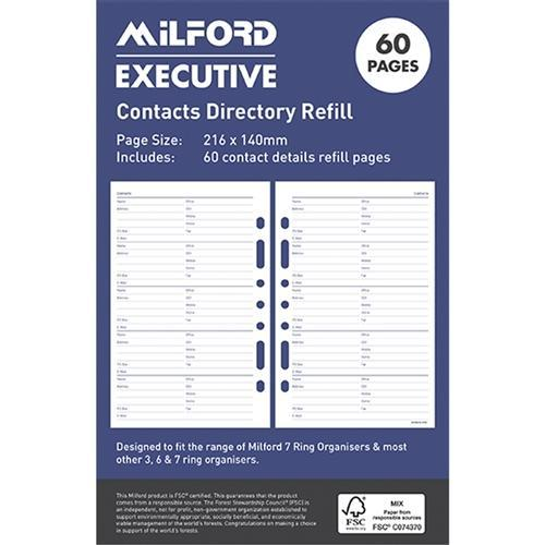 Croxley Milford Executive Address / Contact Directory Refill