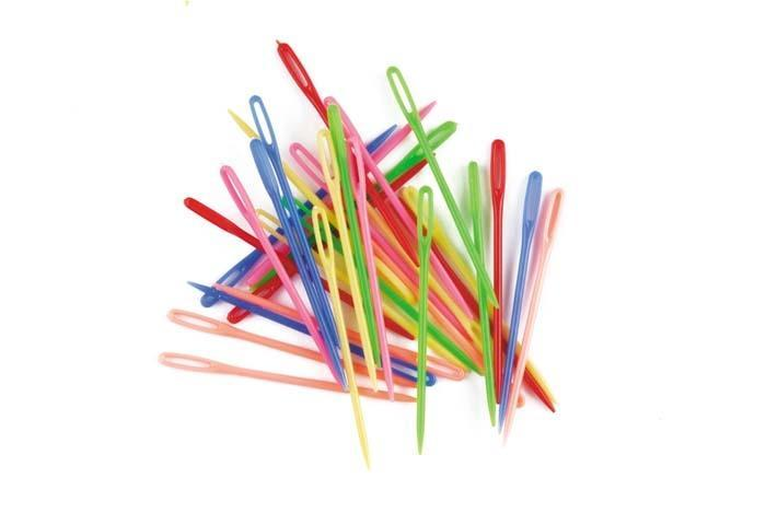 Croxley Plastic Needle Multi Coloured 75mm