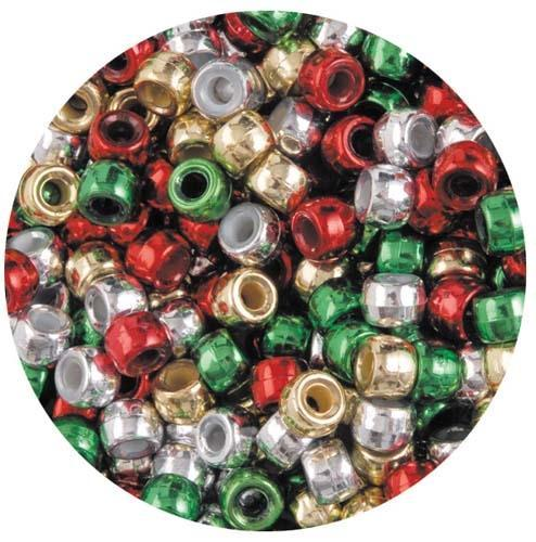 Croxley Pony Beads - Silver / Gold / Green / Red