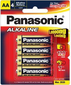 Dove Panasonic AA Alkaline Batteries 4 Pack