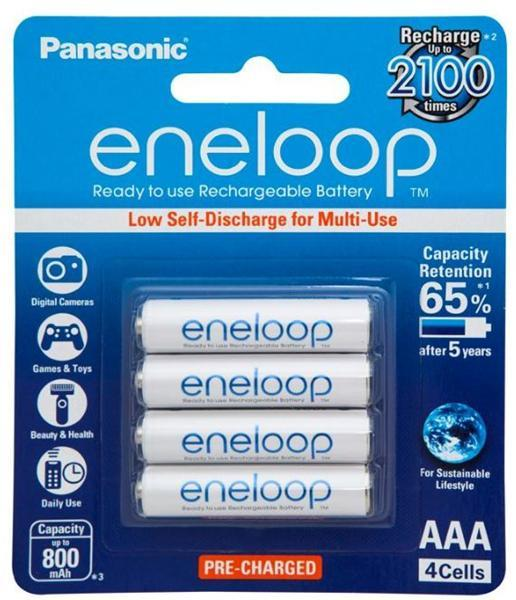 Dove Panasonic Eneloop AAA Rechargeable Batteries 4 Pack