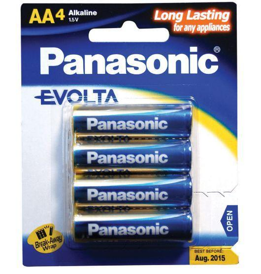 Dove Panasonic Evolta AA Alkaline Batteries 4 Pack