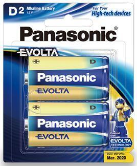 Dove Panasonic Evolta D Alkaline Batteries 2 Pack