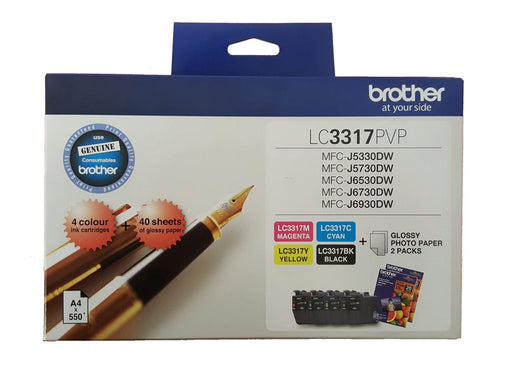 Dynamic LC3317 / LC3317PVP Brother Original Cartridge Value Pack