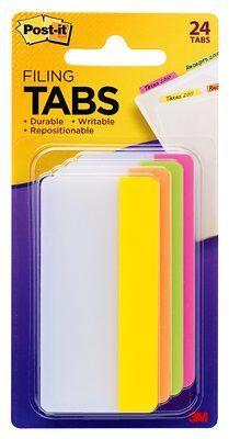 Fresh Office Post-it® Filing Tabs Assorted Colours 75 x 38mm