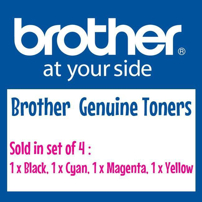 Fresh Print Brother TN251 / TN 251 Genuine Toner Full Set