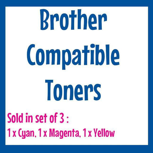 Fresh Print Brother TN255 / TN 255 Compatible Toner - Cyan, Magenta, Yellow