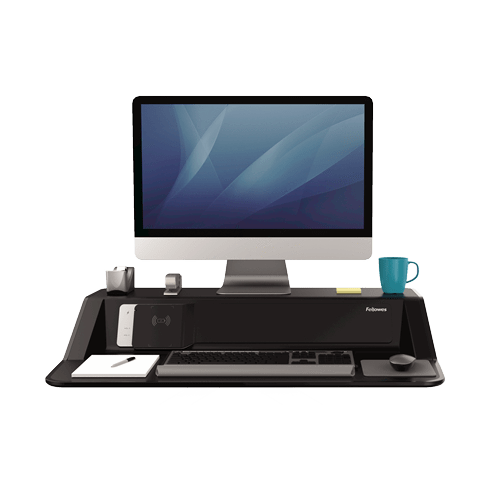 Fresh Print Fellowes Lotus™ DX Sit-Stand Workstation - Black