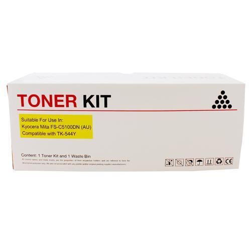 Fresh Print Kyocera TK544 / TK-544 Compatible Yellow Toner