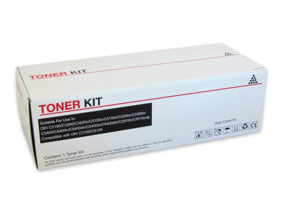 Fresh Print Oki C3100 / C5100 Compatible Black Toner