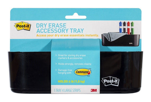 Fresh Print Post-it® Dry Erase Whiteboard Accessory Tray Black