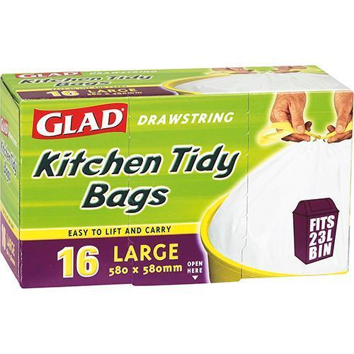 Gilmours Glad Kitchen Tidy Bags Drawstring Large 16's
