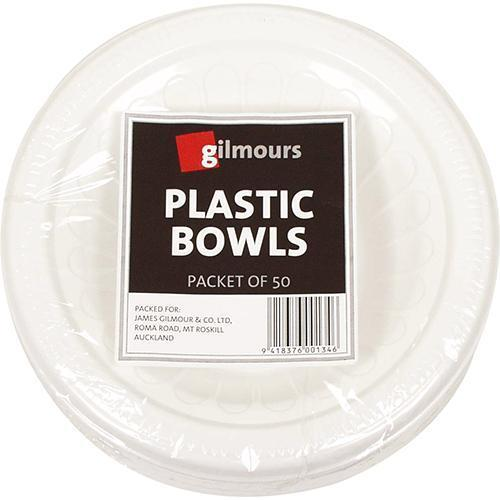Gilmours Plastic Dessert Bowls 180mm x 50's Pack