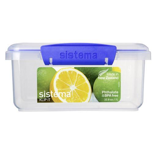 Gilmours Sistema Klip It Container Rectangle 1 Litre