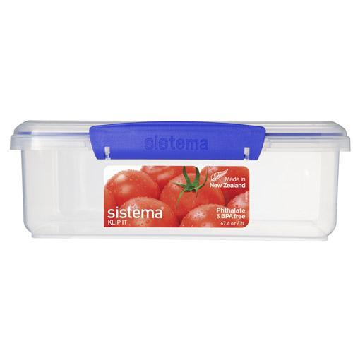 Gilmours Sistema Klip It Container Rectangle 2 Litres