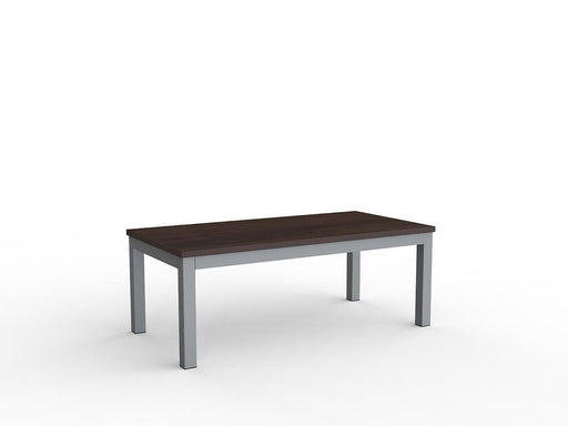 Knight Cubit Coffee Table 1200mm x 600mm - Dark Oak/Silver