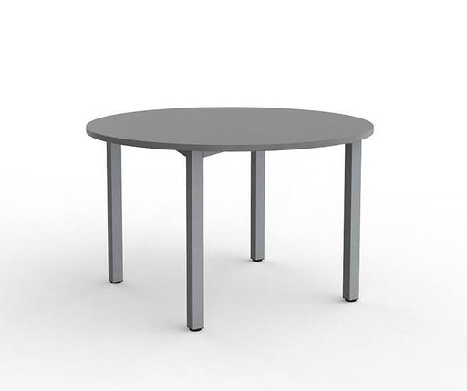 Knight Cubit Meeting Table 1200mm Round - Silver