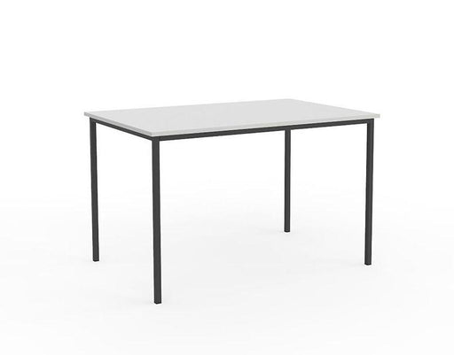 Knight Ergoplan Canteen Table 1200mm x 600mm - White / Black