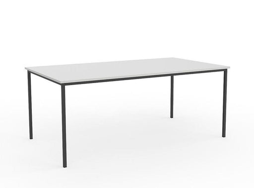 Knight Ergoplan Canteen Table 1800mm x 800mm - White / Black