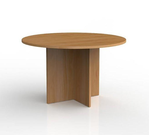Knight Ergoplan Round Meeting Table 1200mm Round - Tawa