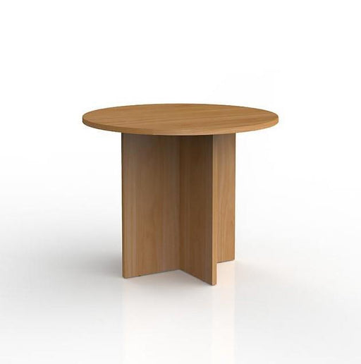 Knight Ergoplan Round Meeting Table 900mm Round - Tawa