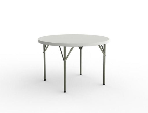 Knight Folding Table with 1 Piece Solid Top 1800mm - Round