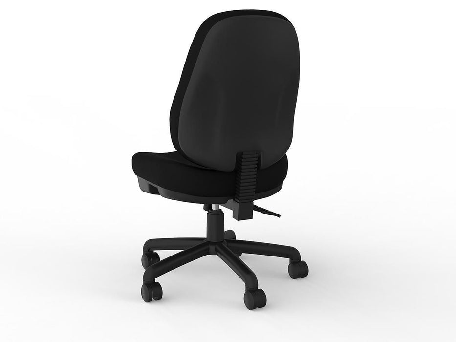 Knight Plymouth 3 Lever Black PU Leather Task Chair